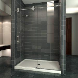Sedona Frameless Glass Shower Enclosure Sliding Door Upgrade 0.375 thick
